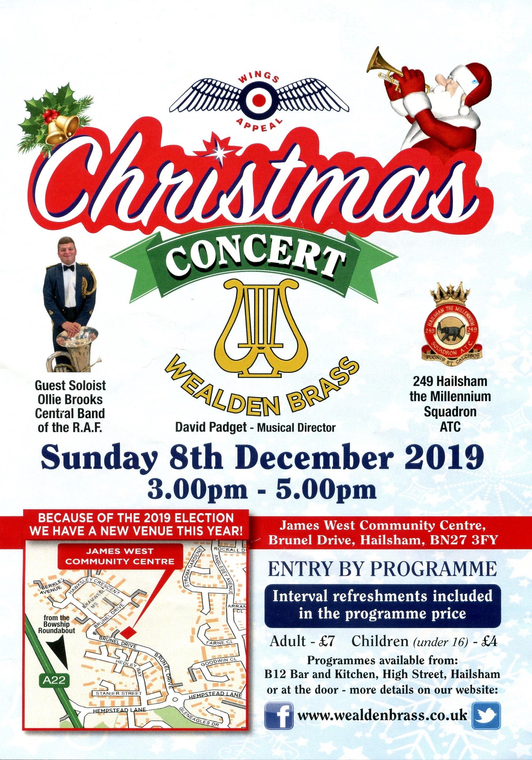 RAFA Christmas Concert, James West Community Centre, Hailsham, Dec 2019