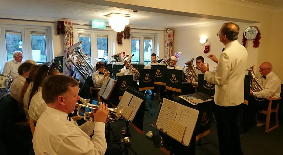 The Small Band performs a Carol Concert at Woodside Hall Nursing Home, Hailsham,  Dec 2019