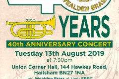 Wealden Brass 40th Anniversary Concert, Aug 2019