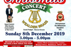 RAFA Christmas Concert, James West Community Centre, Hailsham, Dec 2019