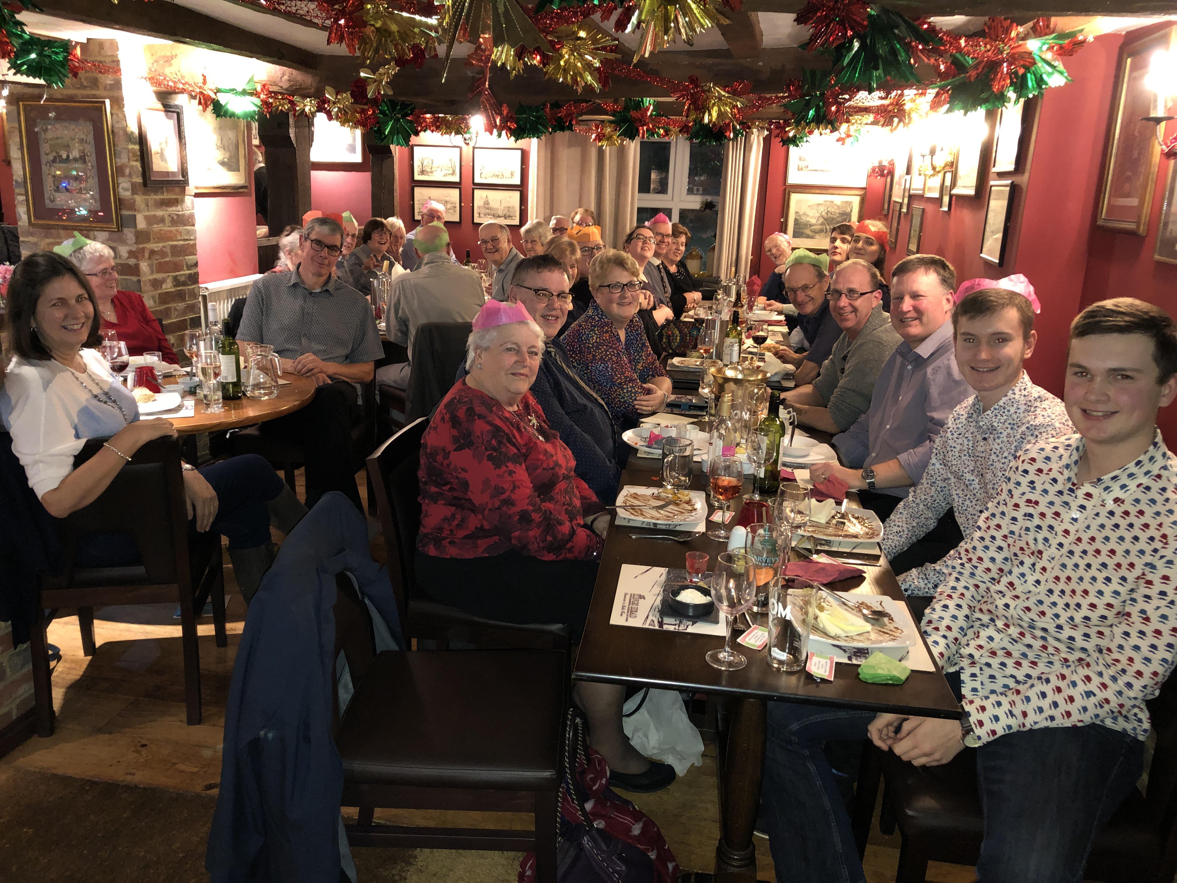 Band Dinner at the Kings Head, Horsebridge, Jan 2020
