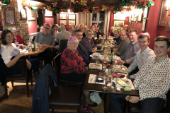 Band Dinner at the Kings Head, Horsebridge, Jan 2020